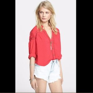 NWT $108 Free People 'Every Day Every Girl' Blouse